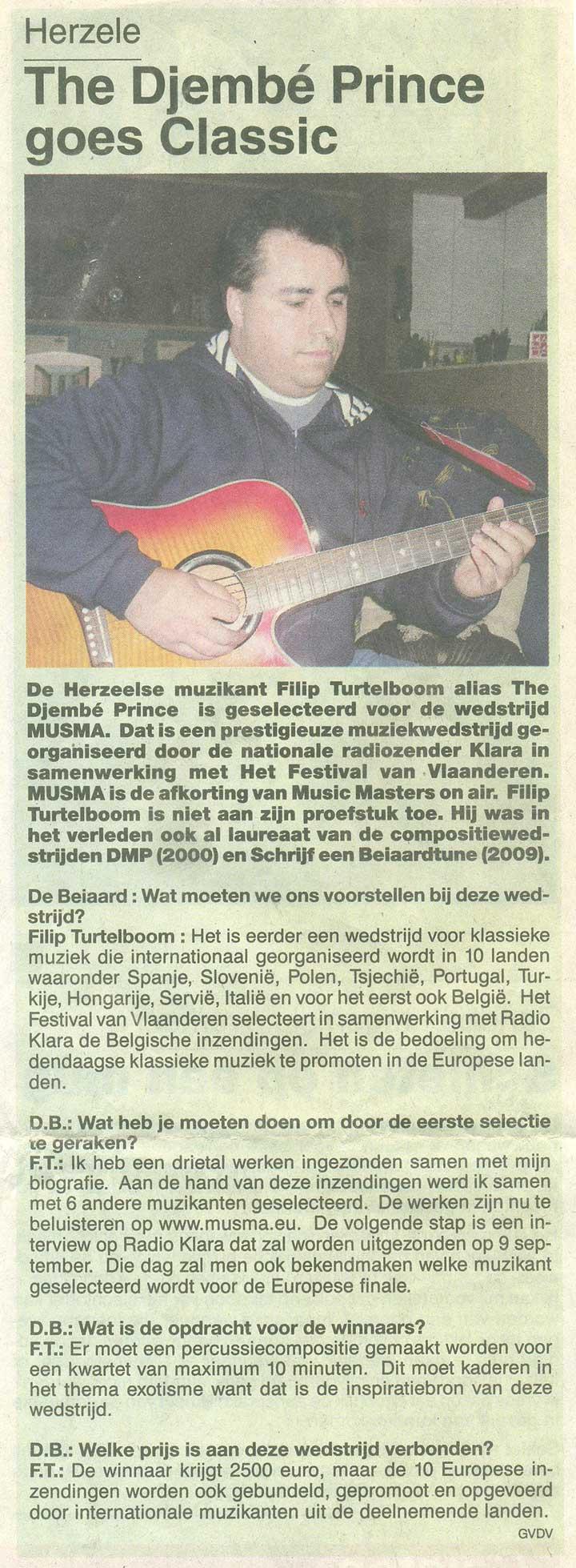 Flippers Music - Gazet van antwerpen
