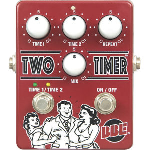 bbe dual mode analog delay pedal two timer
