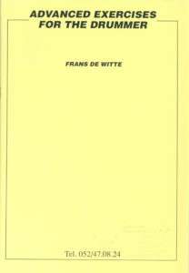 f de witte advanced exercises for the drummer